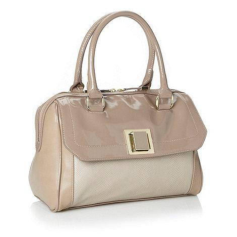 J by Jasper Conran - Designer beige faux snakeskin bowler bag