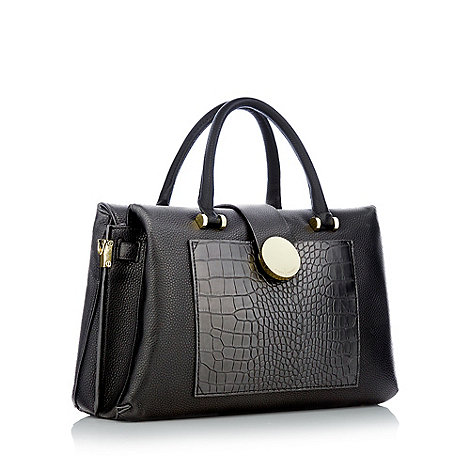 The Collection - Black oversized bow shoulder bag