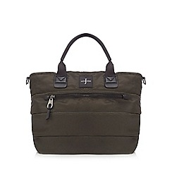J by Jasper Conran - Khaki quilted large tote bag