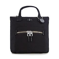 J by Jasper Conran - Black zip top backpack