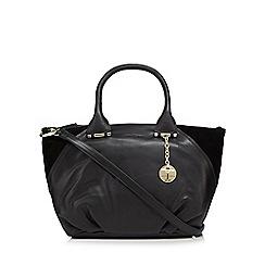 J by Jasper Conran - Black leather contrasting edge bowler bag