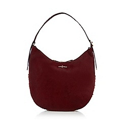 J by Jasper Conran - Wine red circle stud shoulder bag