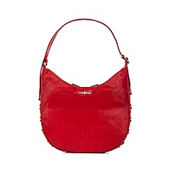 J by Jasper Conran - Red circle stud shoulder bag