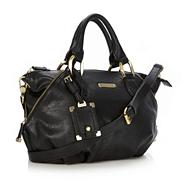 Designer Black Zip Detail Grab Bag