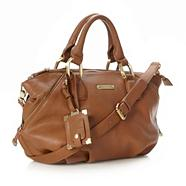 Designer Tan Zip Detail Grab Bag