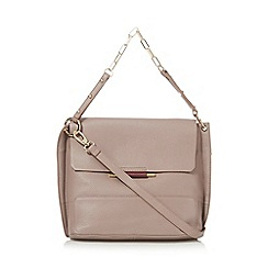J by Jasper Conran - Light pink leather metal bar detail shoulder bag