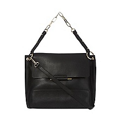 J by Jasper Conran - Black leather metal bar detail shoulder bag