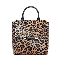 J by Jasper Conran - Natural leopard print leather backpack