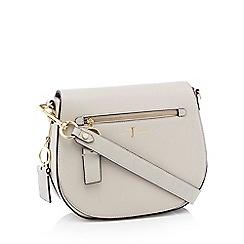 J by Jasper Conran - Grey front zip detail saddle bag