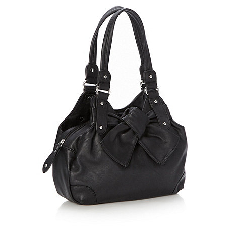 The Collection - Black knotted trim tote bag