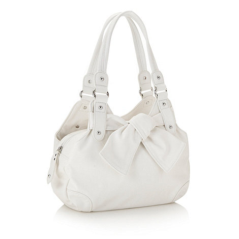 The Collection - White knotted trim tote bag