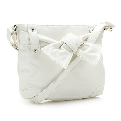 The Collection - White knot front cross body bag