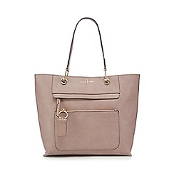 J by Jasper Conran - Light pink front zip detail tote bag