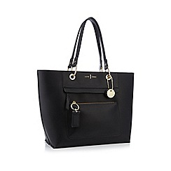 J by Jasper Conran - Black front zip detail tote bag