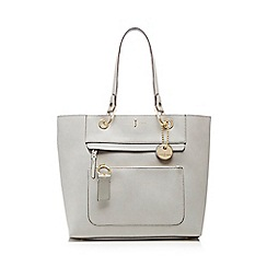 J by Jasper Conran - Grey front zip detail tote bag