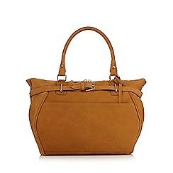 J by Jasper Conran - Mustard 'Nubuck' leather buckle detail grab bag