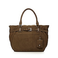 J by Jasper Conran - Khaki nubuck leather buckle detail grab bag