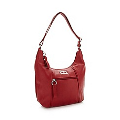 The Collection - Red scooped shoulder bag
