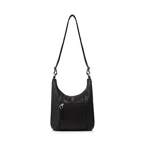 The Collection - Black scooped shoulder bag