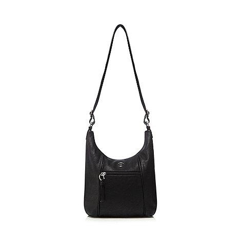 The Collection - Black scooped shoulder bag