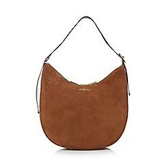 J by Jasper Conran - Tan suede scoop shoulder bag