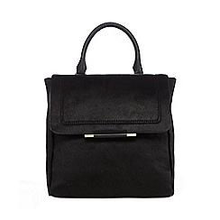 J by Jasper Conran - Black leather backpack