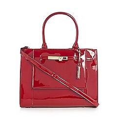J by Jasper Conran - Red patent large grab bag