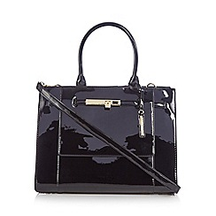 J by Jasper Conran - Black patent large grab bag