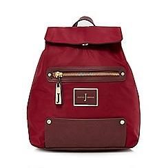 J by Jasper Conran - Dark red zip pocket backpack