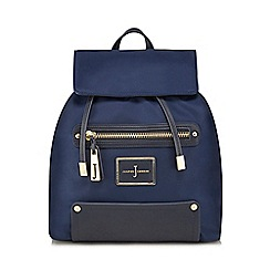 J by Jasper Conran - Navy zip pocket backpack
