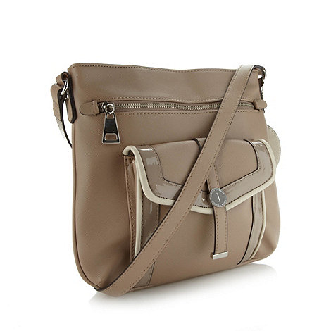 J by Jasper Conran - Designer natural piped pocket cross body bag