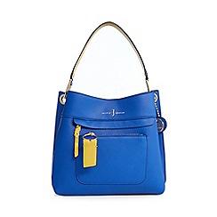 J by Jasper Conran - Blue front zip detail small shoulder bag