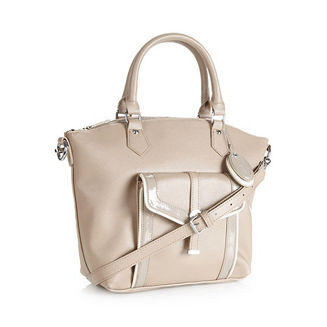 J by Jasper Conran - Designer natural cross hatch tote bag