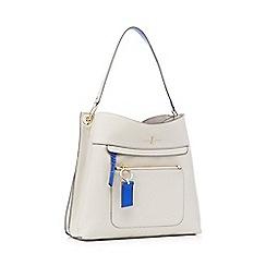 J by Jasper Conran - Grey front zip detail shoulder bag