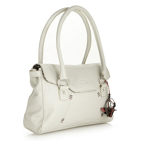 The Collection - Dark cream leather shoulder bag