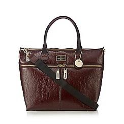 J by Jasper Conran - Dark red patent shopper bag
