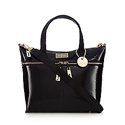 J by Jasper Conran - Black patent shopper bag