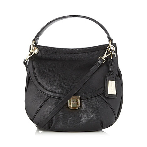 J by Jasper Conran - Designer black leather cross body bag