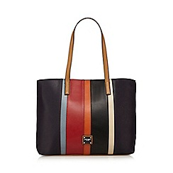 Principles by Ben de Lisi - Navy stripe panel tote bag