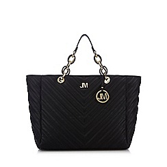 Star by Julien Macdonald - Black chevron quilted large tote bag