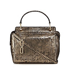 Star by Julien Macdonald - Metallic snakeskin-effect grab bag