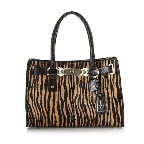 J by Jasper Conran - Designer black tiger striped mini tote bag