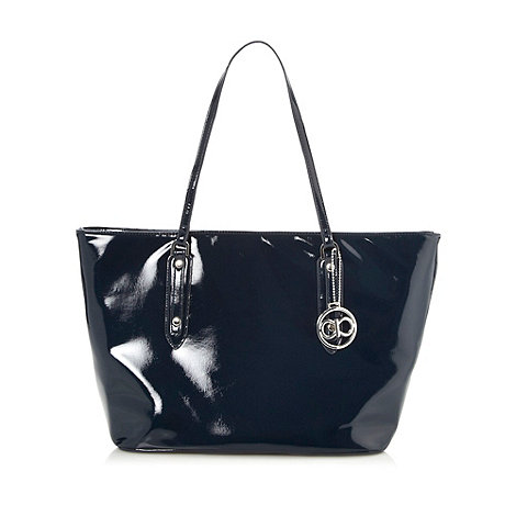 The Collection - Navy textured large tote bag