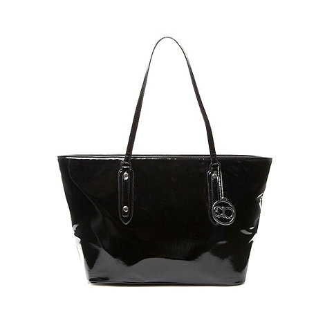 The Collection - Black textured large tote bag