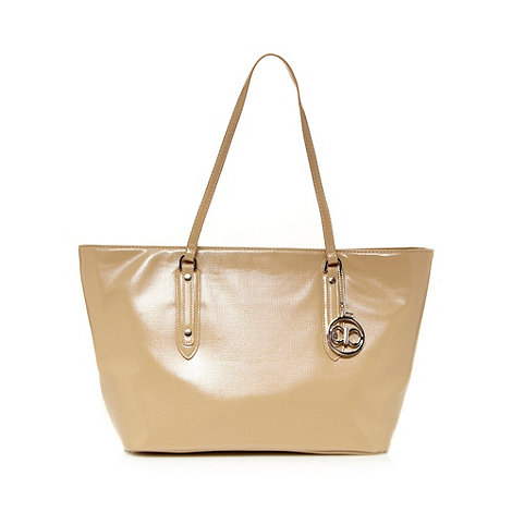 The Collection - Beige textured large tote bag