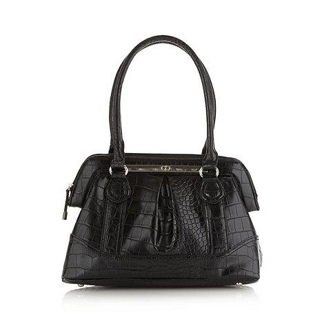 The Collection - Black mock croc doctor+s bag