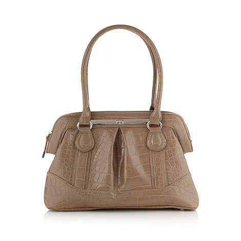 The Collection - Taupe mock croc doctor+s bag
