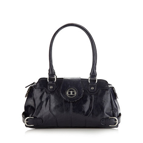 The Collection - Navy buckle detail shoulder bag