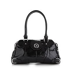 The Collection - Black patent shoulder bag