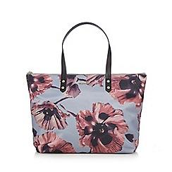 RJR.John Rocha - Grey and pink floral print large tote bag